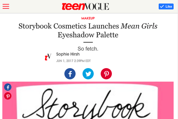 Storybook Cosmetics Launches Mean Girls Eyeshadow Palette: Teen Vogue Feature