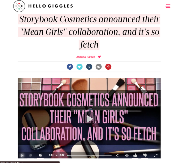 Storybook Cosmetics announced their