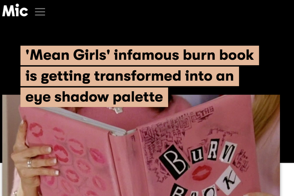 'Mean Girls' infamous burn book is getting transformed into an eye shadow palette: Mic Feature
