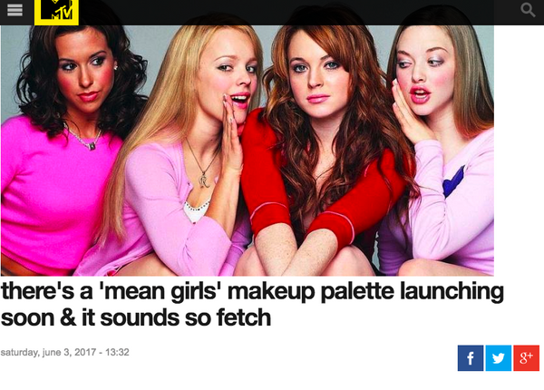 There's A 'Mean Girls' Makeup Palette Launching Soon & It Sounds So Fetch: MTV Australia Feature