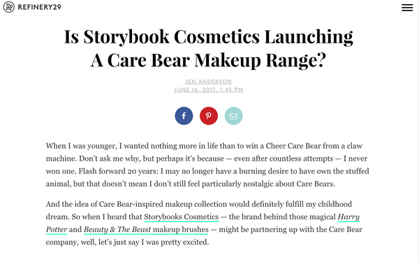 Is Storybook Cosmetics Launching A Care Bear Makeup Range?: Refinery29 Feature