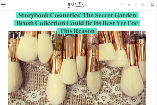 Storybook Cosmetics' The Secret Garden Brush Collection Could Be Its Best Yet For This Reason: Bustle Feature