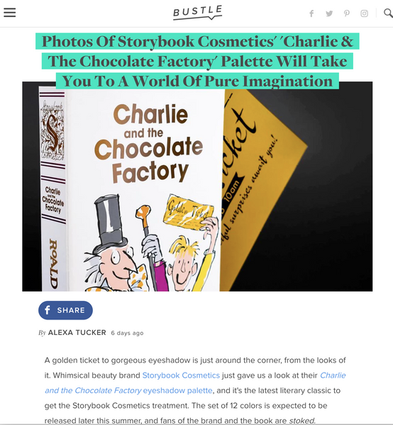 Photos Of Storybook Cosmetics' 'Charlie & The Chocolate Factory' Palette Will Take You To A World Of Pure Imagination: Bustle Feature