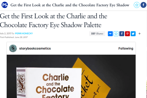 Get the First Look at the Charlie and the Chocolate Factory Eye Shadow Palette: Popsugar Feature