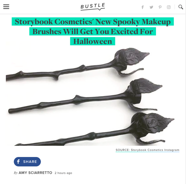 Storybook Cosmetics' New Spooky Makeup Brushes Will Get You Excited For Halloween: Bustle Feature