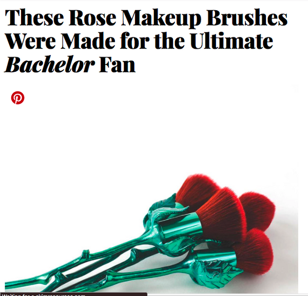 These Rose Makeup Brushes Were Made for the Ultimate Bachelor Fan: InStyle Feature