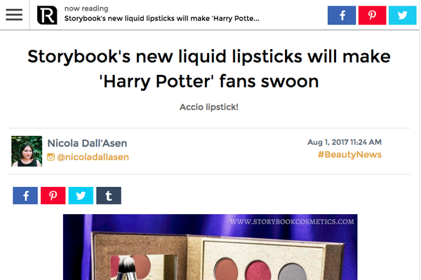 Storybook's new liquid lipsticks will make 'Harry Potter' fans swoon: Revelist Feature