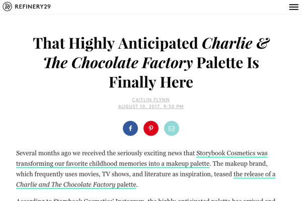 That Highly Anticipated Charlie & The Chocolate Factory Palette Is Finally Here: Refinery29 Feature