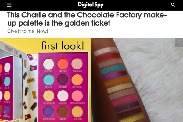 This Charlie and the Chocolate Factory make-up palette is the golden ticket: Digital Spy Feature