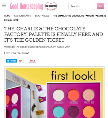 The 'Charlie & The Chocolate Factory' palette is finally here and it's the golden ticket: Good Housekeeping Feature