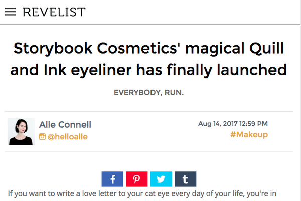Storybook Cosmetics' magical Quill and Ink eyeliner has finally launched: Revelist Feature