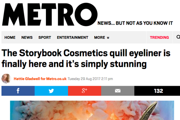 The Storybook Cosmetics quill eyeliner is finally here and it's simply stunning: Metro UK Feature
