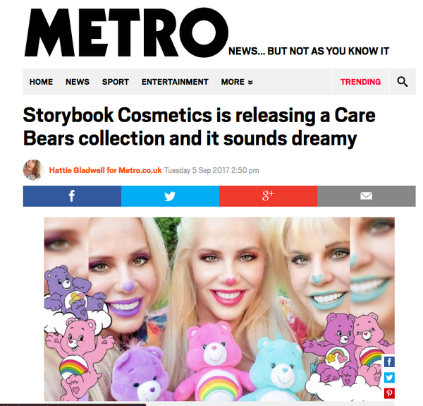 Storybook Cosmetics is releasing a Care Bears collection and it sounds dreamy: Metro UK Feature