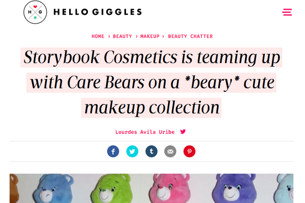 Storybook Cosmetics is teaming up with Care Bears on a *beary* cute makeup collection: Hello Giggles Feature