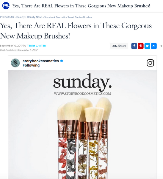 Yes, There Are REAL Flowers in These Gorgeous New Makeup Brushes!: Popsugar Feature
