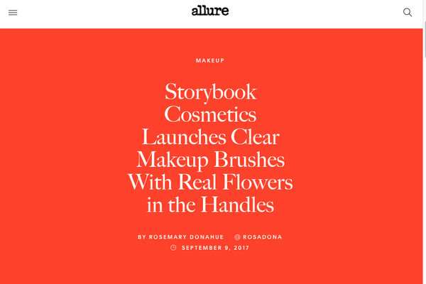Storybook Cosmetics Launches Clear Makeup Brushes With Real Flowers in the Handles: Allure Feature