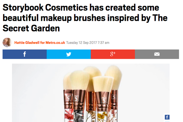 Storybook Cosmetics has created some beautiful makeup brushes inspired by The Secret Garden: Metro UK Feature