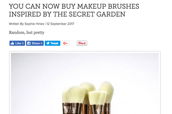 You can now buy makeup brushes inspired by The Secret Garden: Good Housekeeping Feature