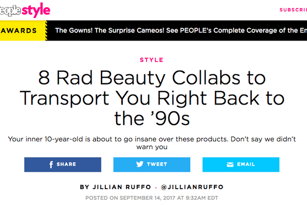 8 Rad Beauty Collabs to Transport You Right Back to the '90s: People Round-up