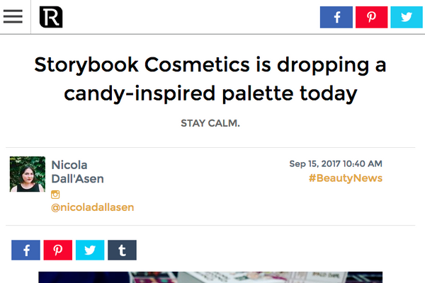 Storybook Cosmetics is dropping a candy-inspired palette today: Revelist Feature