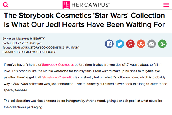 The Storybook Cosmetics 'Star Wars' Collection Is What Our Jedi Hearts Have Been Waiting For: Her Campus Feature