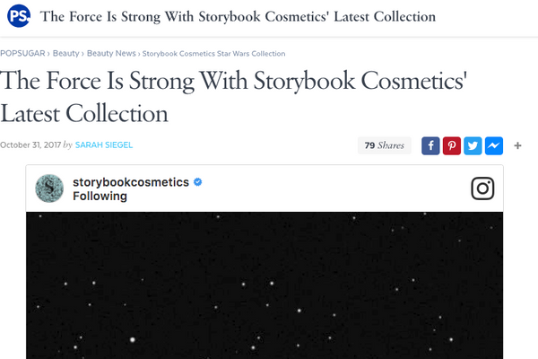 The Force Is Strong With Storybook Cosmetics' Latest Collection: PopSugar Feature
