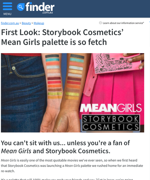 First Look: Storybook Cosmetics' Mean Girls palette is so fetch: Finder Feature