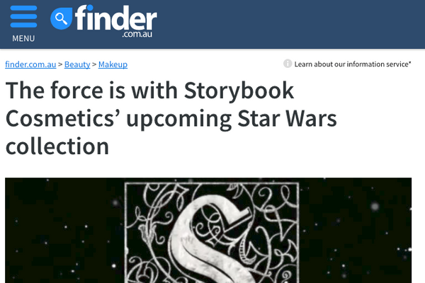 The force is with Storybook Cosmetics' upcoming Star Wars collection: Finder Feature