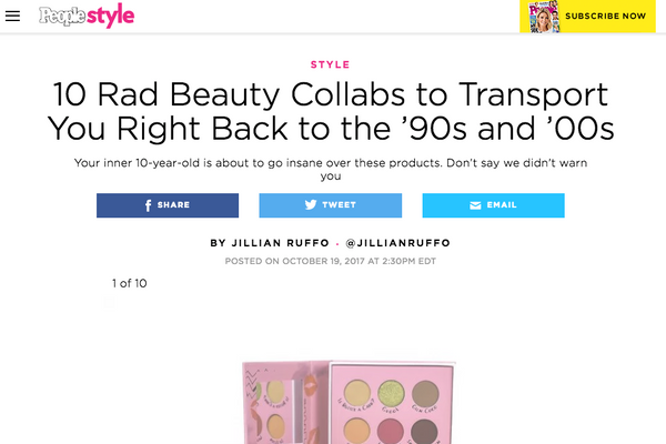 10 Rad Beauty Collabs to Transport You Right Back to the '90s and '00s: People Magazine Round Up