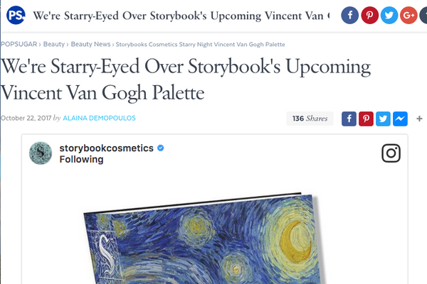 We're Starry-Eyed Over Storybook's Upcoming Vincent Van Gogh Palette: PopSugar Feature