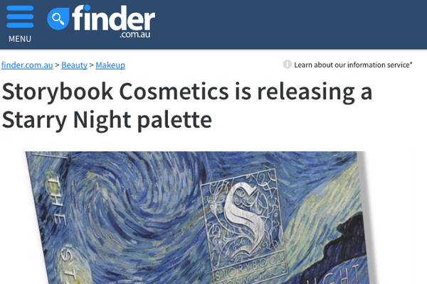 Storybook Cosmetics is releasing a Starry Night palette: Finder Feature