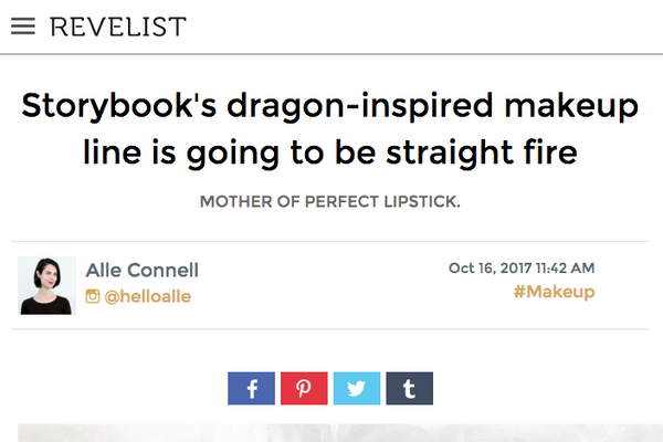 Storybook's dragon-inspired makeup line is going to be straight fire: Revelist Feature