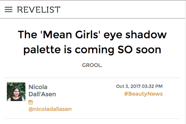The 'Mean Girls' eye shadow palette is coming SO soon: Revelist Feature