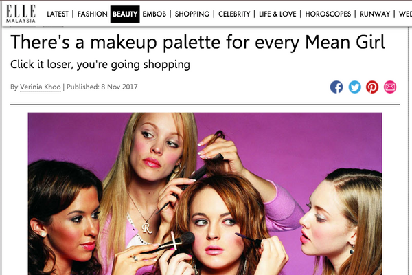 There's a makeup palette for every Mean Girl: ELLE Feature