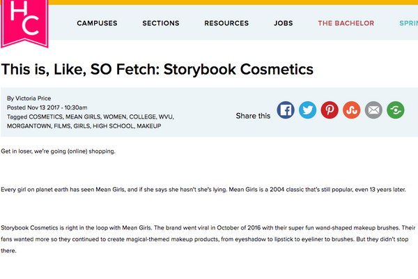 This is, Like, SO Fetch: Storybook Cosmetics: Her Campus Feature