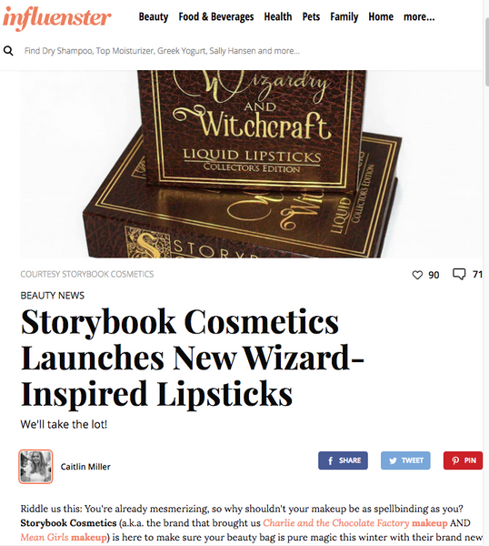 Storybook Cosmetics Launches New Wizard-Inspired Lipsticks: Influencer Feature