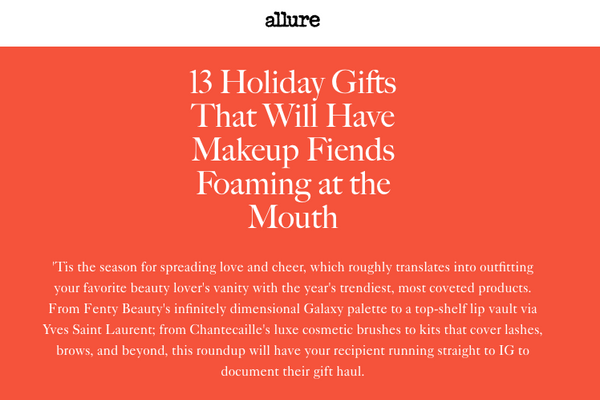 13 Holiday Gifts That Will Have Makeup Fiends Foaming at the Mouth: Allure Gift Round up