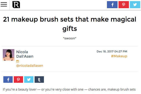 21 makeup brush sets that make magical gifts: Revelist Round up