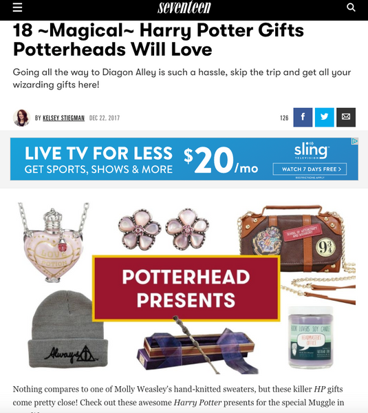 18 ~Magical~ Harry Potter Gifts Potterheads Will Love: Seventeen Round up