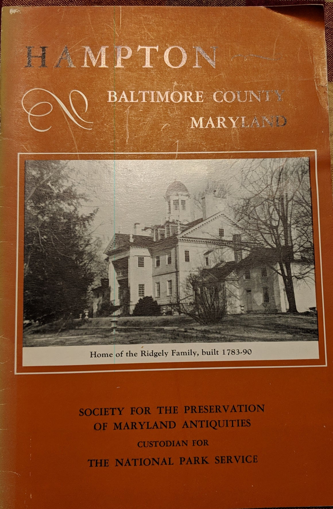 Book - Hampton Baltimore County Maryland