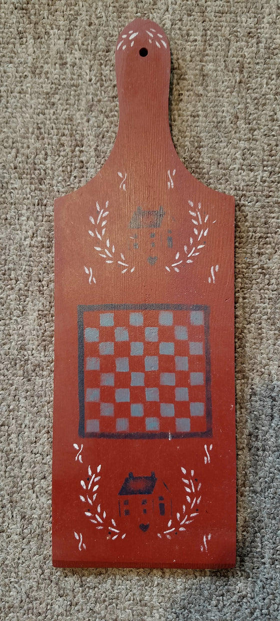 Wooden paddle wall hanging