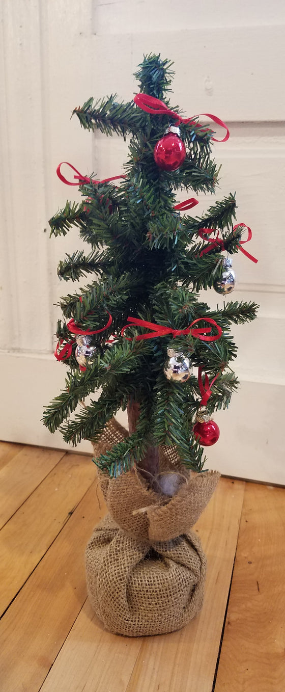 "Christmas Tree - 16"" tall with Small Ornaments"