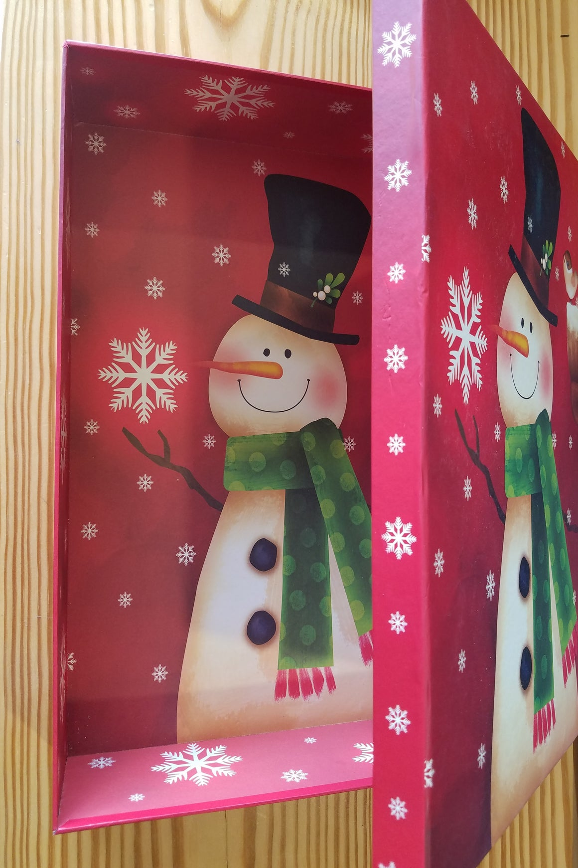 Christmas box - Vintage looking Snowman