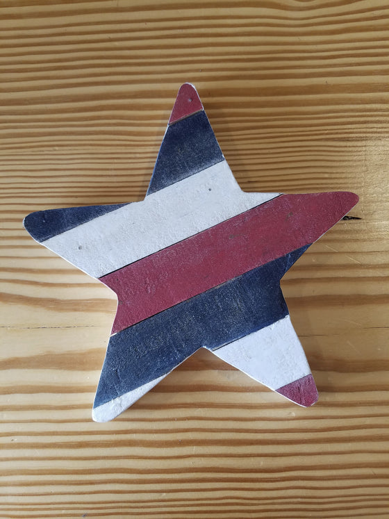 Wood Art Wall Hanging- R-W-B Star