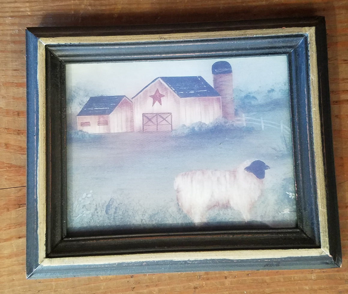 Primitive Framed Photo