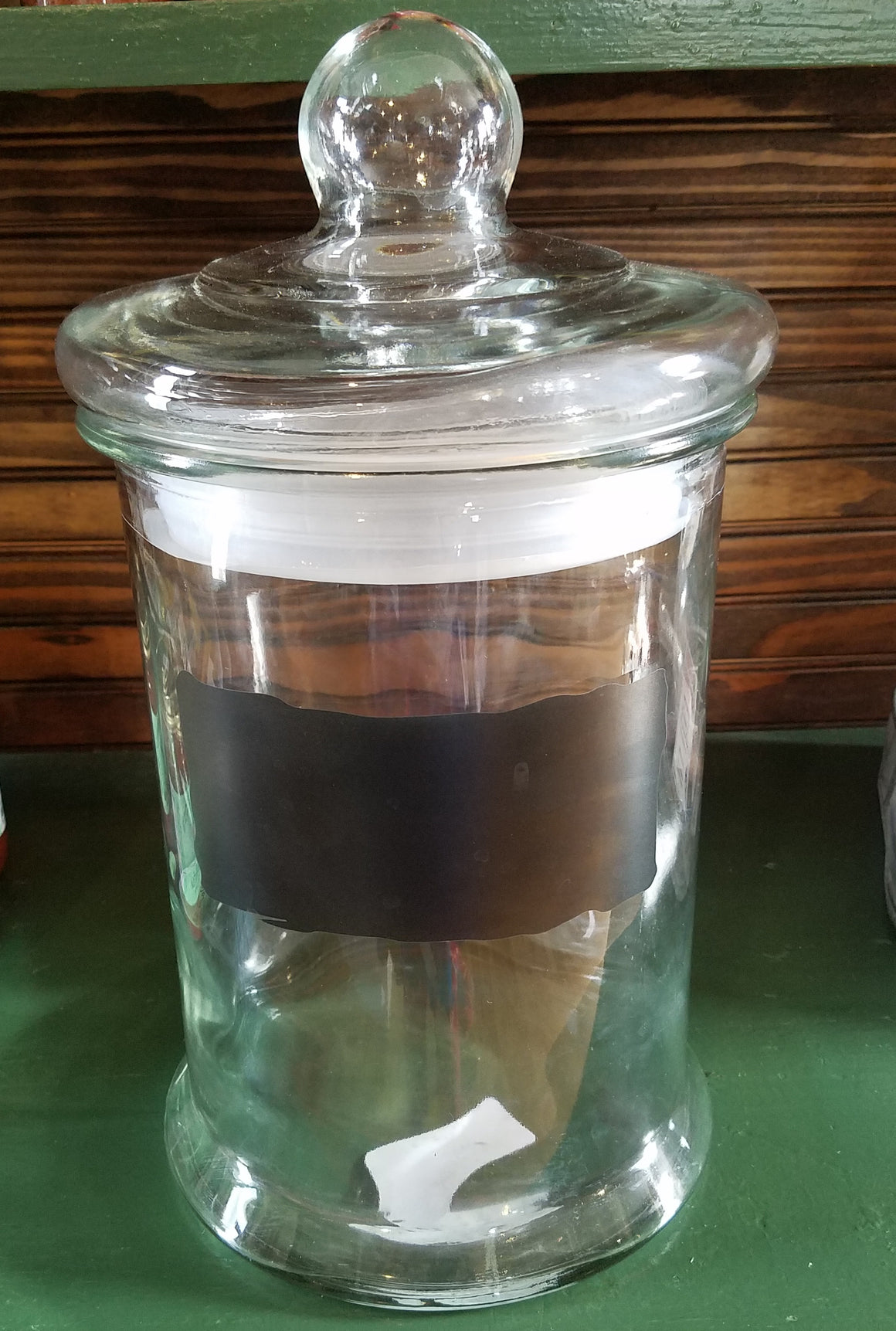 Large Glass Snack Jar