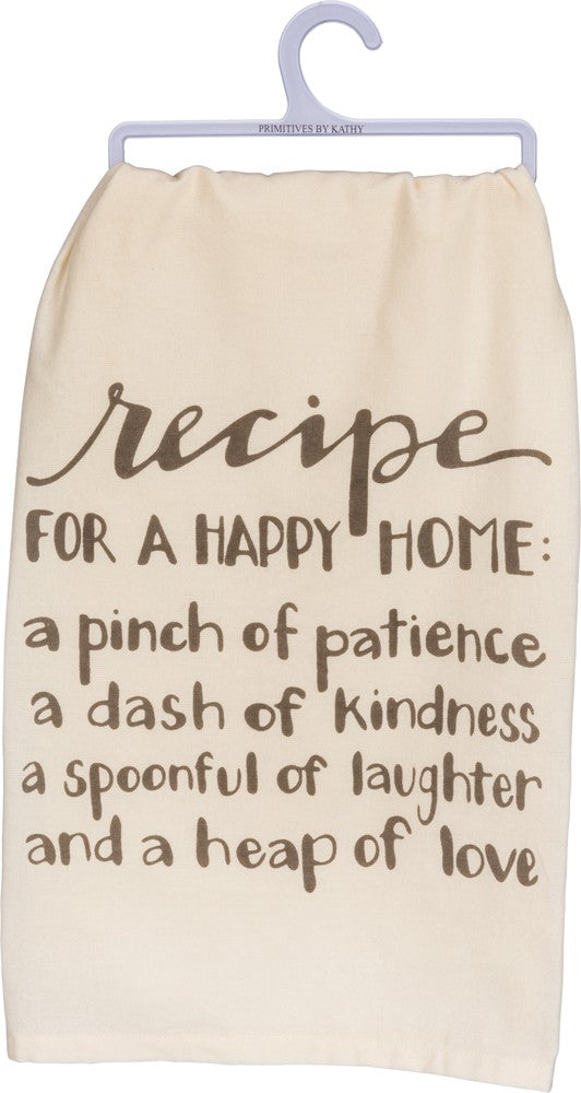 Dish Towel - Recipe For a Happy Home