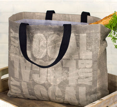 Canvas Market Tote - Buy Local
