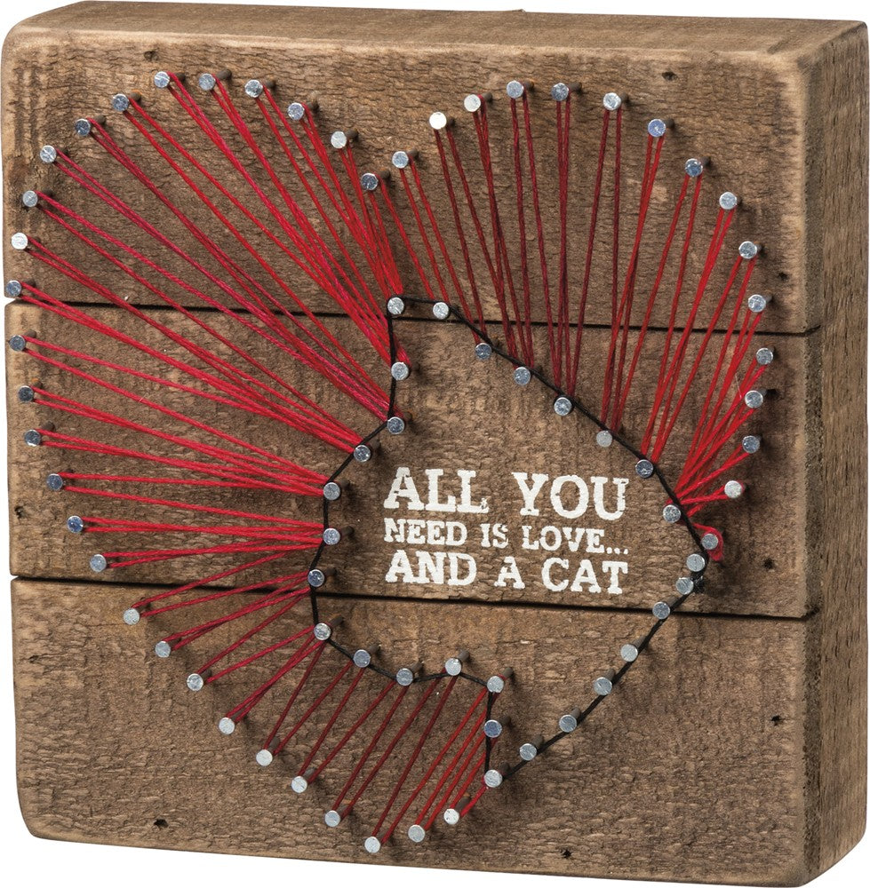 String Art - All You Need is Love and a Cat