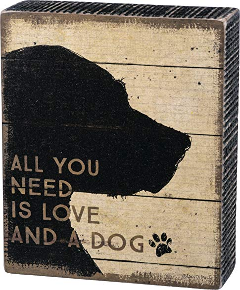 Box Sign - Love And A Dog